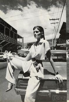 Vogue Editorial December 1974 - Rene Russo & Cheryl Tiegs by Helmut Newton