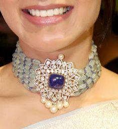 Samantha Akkineni in Akoya Juwelen der Welt - Schmuck Ruby Jewelry, Silver Jewelry, Jewelry Necklaces, Diamond Necklaces, Indian Jewelry, Diamond Jewelry, Coral Jewelry, Silver Ring, Silver Earrings