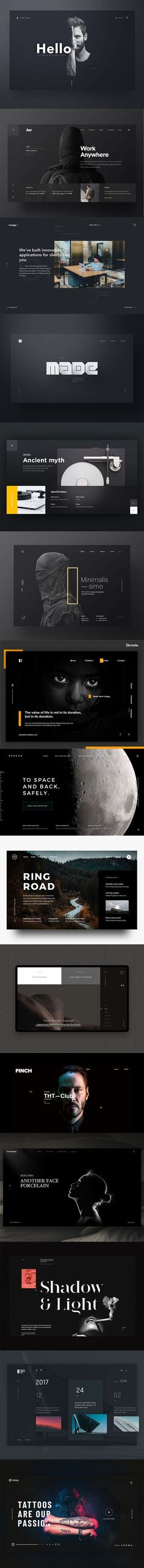 So if you are looking for inspiration for design solutions which using dark background as a basis of color scheme, here are 50 Excellent Dark Background Web UI Designs to inspire you. Web Design Trends, Flat Design, Icon Design, Web Design Tutorial, Graphisches Design, Homepage Design, Web Design Tips, Design Room, Design Studio