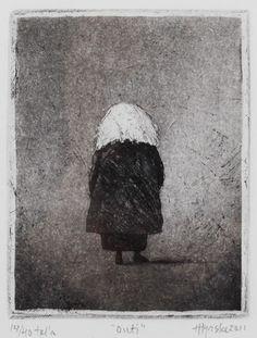 Outi, Hannu Hyrske Modern Art, Contemporary Art, Gravure, Painting Inspiration, Finland, Sculpture Art, Printmaking, Paper Art, Charcoal