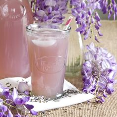 This Lavender Lemonade would be perfect as a signature wedding drink...beautiful! Drink by http://munchinwithmunchkin.com/2012/03/19/lavender-lemonade/  Photo Credit: http://munchinwithmunchkin.com