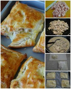 Creamy Chicken Leek Parcels and peppers recipe Chicken And Leek Pie, Creamy Chicken, Empanadas, Great Recipes, Favorite Recipes, Chicken Breast Fillet, Puff Pastry Recipes, Light Recipes, Pastries