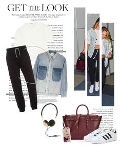 """""""Get the Look: Celebrity Airport Style"""" by krischigo ❤ liked on Polyvore featuring Aspinal of London, Miu Miu, MiH, adidas, Armani Jeans, Frends, Casetify and celebairportstyle"""