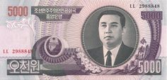 Motivseite: Geldschein-Asien-Nordkorea-원-5000-2006