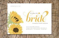 Sunflower Bridal Shower Invitations, Bridal Shower Invitations