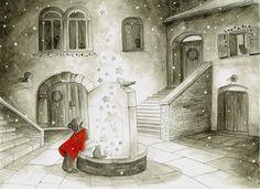 Christmas Stars Watercolor Illustration by DareDofIllustrations