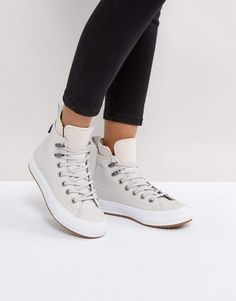 Converse Chuck Taylor All Star Hi Top Boot In Beige