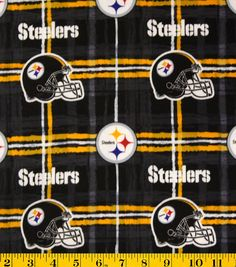 The NFL Flannel Fabric 42 is a perfect choice for those who take their football seriously. Made of cotton, this soft-textured flannel fabric is ideal to create quilts, stadium throws and more. Pittsburgh Steelers, Steelers Gear, Steelers Stuff, Steelers Football, Quilting Tutorials, Quilting Projects, Sewing Projects, Craft Projects, Steeler Nation