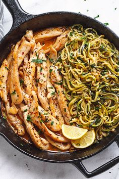 Cowboy Butter Chicken and Zucchini Noodles - This GORGEOUS 15-minute paleo dinner idea is simple, easily customizable and pretty much fail-proof.