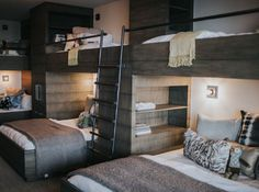 Love this design for bunk beds for hostel.