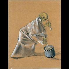felix nussbaum | Felix Nussbaum- Skeleton with Drums | Memento mori