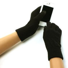 New Ladies Winter Smart tip Casual Knit Magic Touch Screen Thumb Index Technology Glove Outdoor Indoors Gloves with 2 Tone with Thick Ribbed Elastic Wrist Magic Touch Glove for Tablet PC, Ipods, Ipads, Iphones, Laptops, Touchscreens, PDA and so much more New Technology, it's amazing! Keep your glove on and adjust your electronic devices. Warm and Comfortable Super soft & warm. New and improved quality and fit, will snug your hands nicely...