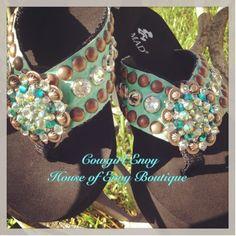 Cowgirl envy flip flops