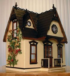 Orchid dollhouse kit~finished idea