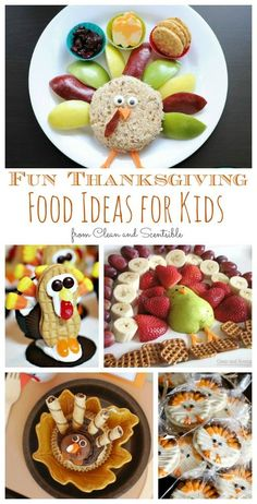 Looking for some Thanksgiving food ideas for kids? Try these ideas to add a little more fun to your Thanksgiving celebrations!