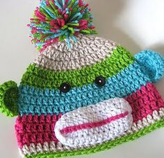 I like the sock monkey in different colors than the usual.