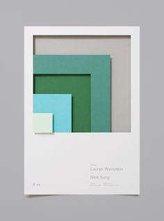 designer fund speakers folded paper poster cards minimal design collage inspiration designblog www.mindsparklemag.com