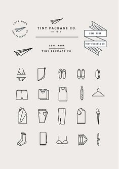 Tiny Package Co. by Emily Gwynne, via Behance