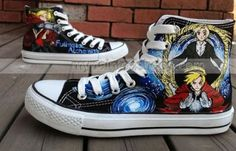 bbdd3aacbca Anime Fullmetal Alchemist Hand Painted Shoes anime high top shoe