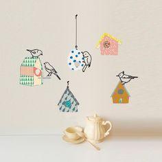 Stickers Mimilou - Sticker oiseau et nichoirs chez Pure Déco