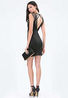 Cage Detail Open Back Dress