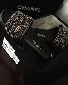 50d681d18653 Chanel ✨  Chanel  Slides  Sandals Chanel Chanel