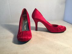 Charlotte Russe Red Satin Pumps