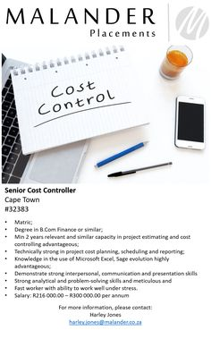 #cost #costcontrol #costing #costcontroller #financeprofessionals #jobs #jobsavailable #careers #malanderplacements Pre And Post, Microsoft Excel, Job S, Find A Job, Finance, Career, Knowledge, Cards Against Humanity, Carrera