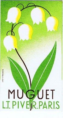 Antique #Muguet Perfume Card (Piver, Paris)  vintage lily of the valley