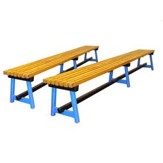 Pair Of School Benches  Modern, Wood, Kid by Steven Sclaroff