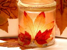 Restore fall color to faded leaves!  Here is how: http://gingerbreadsnowflakes.com/node/850