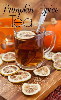 There's nothing like drinking a cup of hot tea while wrapped up in a cozy knit blanket and reading a good book. If you're getting tired of your typical tea, try making an easy-to-make chai tea latte, a healing cinnamon tea, or a nutritious vanilla green t Pumpkin Recipes, Fall Recipes, Pumpkin Drinks, Pumpkin Spice Tea, Spiced Pumpkin, Hot Tea Recipes, Drink Recipes, Smoothies, Cinnamon Tea