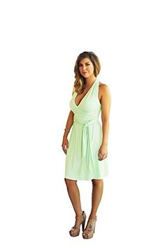 New Charm Your Prince Women's Summer Halter Top Sundress online. Enjoy the absolute best in Tecrio Dresses from top store. Sku wtud22294uhez69893