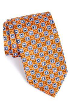 J.Z. Richards Geometric Grid Silk Tie (X-Long)