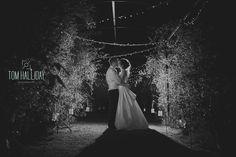 Country wedding - fairy lights - romantic wedding night shot - rustic quirky wedding  - UK wedding photographer - wedding photography - Tom Halliday Photography - kiss photography