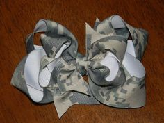 Military Digital Camo Stacked Boutique Hairbow by HairbowsNMore, $7.99