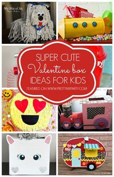 29 ADORABLE DIY Valentine Box Ideas for Kids on www.prettymyparty.com.