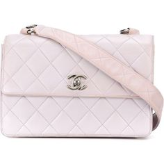 Chanel Vintage Quilted Shoulder Bag ($2,515) ❤ liked on Polyvore featuring bags, handbags, shoulder bags, chanel, vintage purses, vintage leather purse, pink shoulder bag, pink purse and leather shoulder handbags