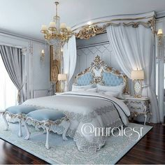 Bedroom Design Ideas – Create Your Own Private Sanctuary Dream Rooms, Dream Bedroom, Home Bedroom, Bedroom Decor, Master Bedroom, Fancy Bedroom, Bedroom Photos, Bedroom Furniture, Royal Bedroom