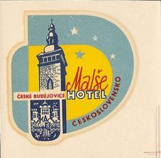 CZECHOSLOVAKIA-Malse Hotel-Vintage Decal Luggage Label | eBay
