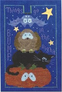 """""""Things Go Bump In The Night"""" is the title of this cross stitch pattern from Val's Stuff - this pattern just cracks me up and it will you to..."""