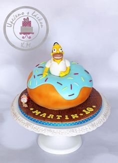 Homer Simpson in dougnut  - Cake by Tynka