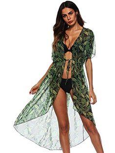 1b3668e7c6d74 SweatyRocks Women's Flowy Kimono Cardigan Open Front Maxi... https://www