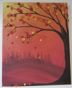 Autumn button tree.