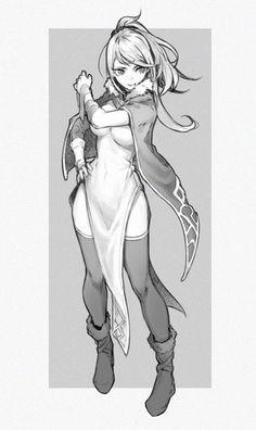 Samus in a Dress Female Character Design, Character Design References, Character Drawing, Character Illustration, Character Concept, Concept Art, Illustration Art, Manga Drawing, Manga Art