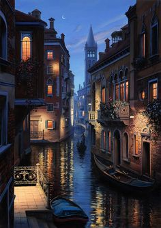 An Evening in Venice  painting by Eugeny Lushpin