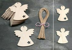 10 x Wooden Angel Fairy Gift Tag Blank Plain Shapes Christmas Tree Decoration Christmas Tree Angel, Christmas Makes, Christmas Wood, Christmas Projects, Christmas Ornaments, Wooden Angel, Fairy Gifts, Wooden Ornaments, Xmas Decorations