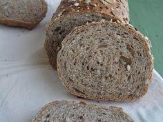 Kipróbált és bevált receptek ...: Teljes kiőrlésű formakenyér, a mi mindennapi kenyerünk Dinner Recipes, Food And Drink, Bread, Homemade, Cooking, Cakes, Kitchen, Home Made, Cake Makers