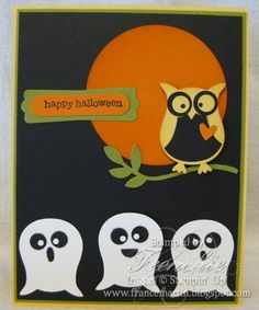 Stamp & Scrap with Frenchie: Stampin'Up Owl Punch with the Ghost....