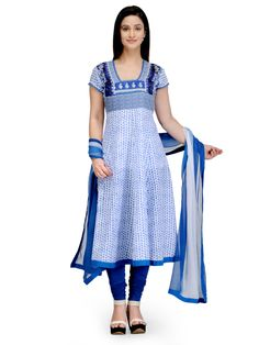 Shop Blue Flared Cotton Suit Set online at Biba.in - SKD4457BLU